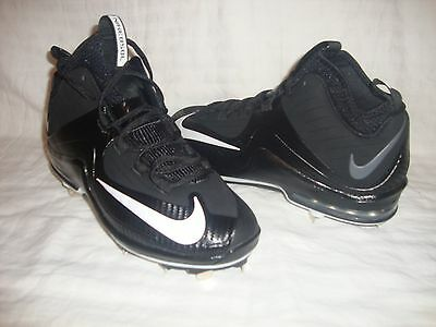 Nike 684687 Men's Air Max Elite 2 Metal 3/4 Baseball Cleats Size 8.5 Black & Wht