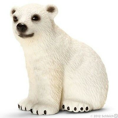Schleich Polar Bear Cub Toy Figure New with tag Item 14660, Possible Free Ship