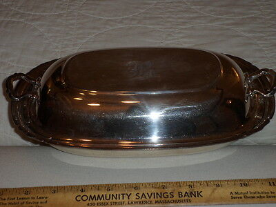 "Vintage Reed and Barton Silver Plated Serving Dish #5001 ""Mayflower"" - ""B"""