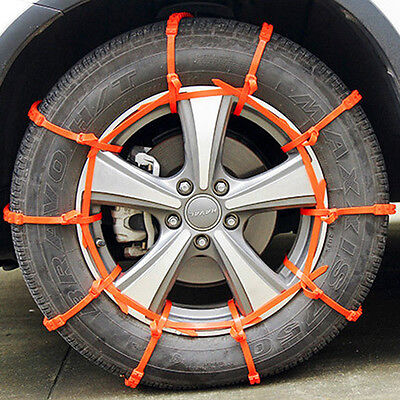 10pcs New Car SUV Tires Emergency Winter Snow Practical Anti-skid chains ssk