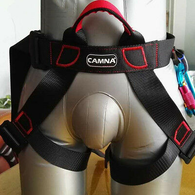 Climbing Safety Belt Harness Lanyard Strap Climb Rapplling Construction Protect