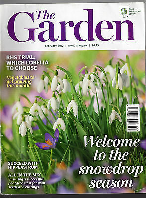 THE GARDEN magazine (RHS) –  February 2012: Welcome to the snowdrop season