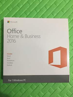 Microsoft Office 2016 Home and Business 32/64bit English Brand New DISC KEY CARD