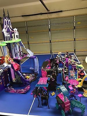 Monster High Doll Collection Plus House , Car , Furniture. Bulk Lot