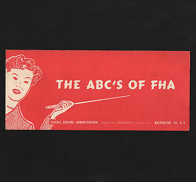 OPC 1960 Federal Housing Administration The ABC's of FHA Trifold Brochure