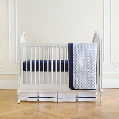 Summer Infant 4-Piece Classic Bedding Set with Adjustable Crib Skirt, Nautica...