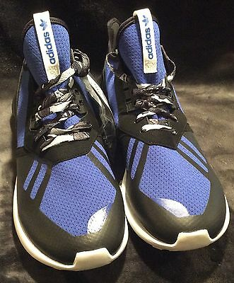 best website 74265 c77ad Adidas Tubular Runner B25953 Mens Running Shoe Black Royal Blue White DS  Size 10