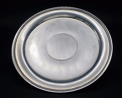 Antique Large Tiffany And Co. Makers Sterling Sliver Heavy Cake Plate
