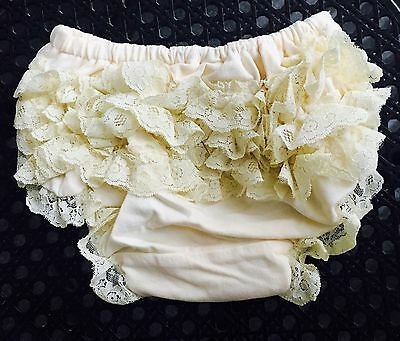 Baby Girl Vintage Inspired New Petti Ruffle Lace Bloomer Diaper Cover 6m -18m
