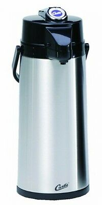 Thermal Pump Dispenser Pot 2.2L Stainless Steel Glass Liner Commercial Beverage