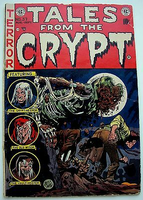 Scarce Rare 1953 Tales From The Crypt Vol 1, #37 Golden Age Horror Ec Comics