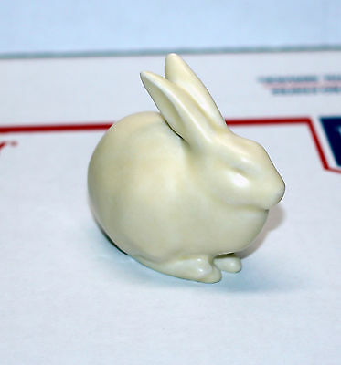 C. 1930 Rookwood Bunny Rabbit Paperweight Off White Cream Color