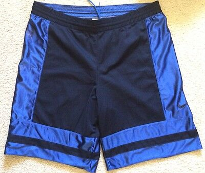 NIKE Basketball Shorts Mens Size Medium Blue Black Pre Owned VGC