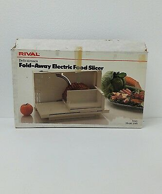 Rival fold Away -  Folding Food and Meat Slicer Model 1044