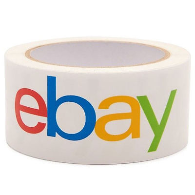 "2 x rolls eBay Branded BOPP  2"" Packaging Tape - Packing Shipping Tape 75 yards"