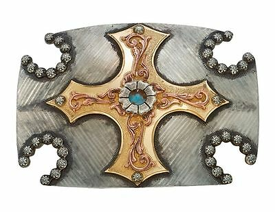 Montana Silversmiths Western Belt Buckle Womens Cross Silver WB101