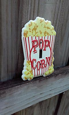 Pop Corn Metal Light Switch 6 By 4 Inches  Gas Station Man Cave Garage Shop