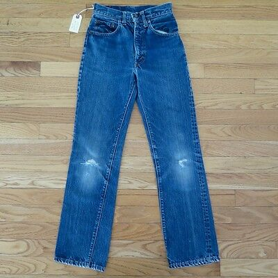 VINTAGE ORIGINAL LEVIS BIG E KIDS SIZE 14 W24 L27 1960's ZIPPER TALON