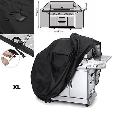 190x71x117cm Extra Large Size 6,7 Burner Hooded BBQ Barbecue UV Protector Cover