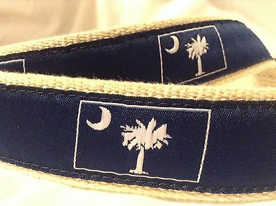 Rare South Carolina State Flag Palmetto Moon 42-inch Cloth Belt By Moonshine