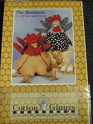 """Vintage Cotton Ginnys """"The Roosters"""" 11"""" x 14"""" Roosters-NOS"""