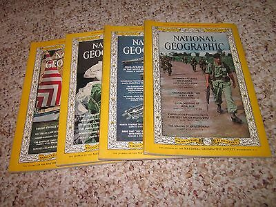 Lot Vintage Magazines (1965) National Geographic Magazine (4 Issues) Back Issues