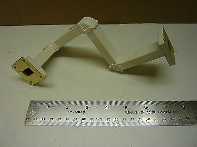 "WR75 Waveguide complex bend 3"" E 3"" E 3"" H 3.5""  Right-Ku Satellite - Make offer"