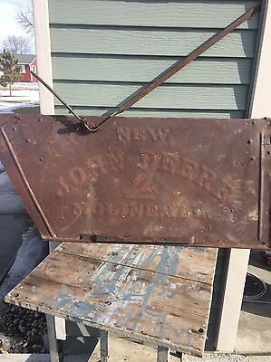 Vintage Industrial Art Sign John Deere Tractor Farm Decor Design Piece Wall Hang