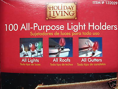 1000 All-Purpose Indoor Outdoor Christmas Light Holders Gutters Roofs Decks New