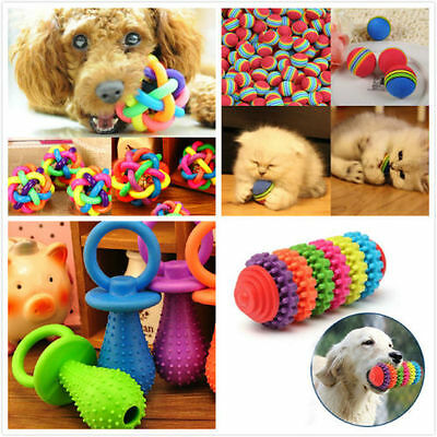 Rubber Pet Dog Puppy Dental Teething Healthy Teeth Gums Chew Toy  Tools Colorful