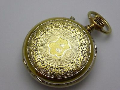 Vintage Brass  Mechanical Pocket Watch with Fancy Case  LAYBY