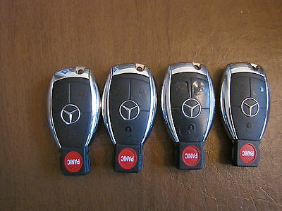 4 MERCEDES BENZ ROUND PANIC BUTTON Smart Key Keyless Entry Remote Fob OEM Lot