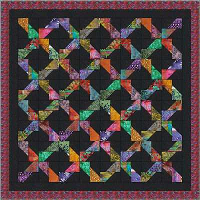 Quilt Kit/ Batik Chained Rectangles /Pre-cut Fabrics Ready To Sew/EXPED ***