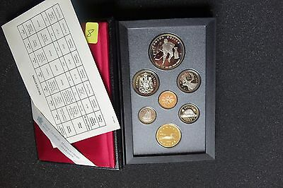 1993 Canada 7 Coin Proof Set, Silver Dollar 100 Anniversary Stanley Cup, Coa