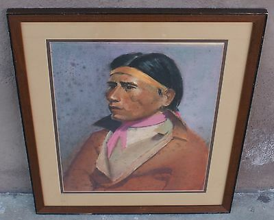 Alvin Jacob Beller 1902-1968 Listed CA American Indian Male Portrait Dated 1939