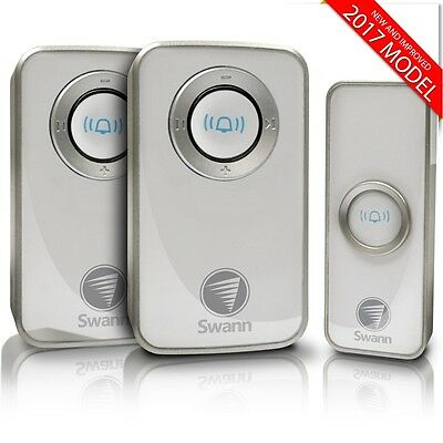 Swann SWHOM-DC820P2 Wireless Door Bell Chime Mains Power 2Pack - 2017 Version