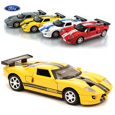 1:32 FORD GT Diecast Model Car Kids Metal Alloy Pull Back Collection Decor Toy