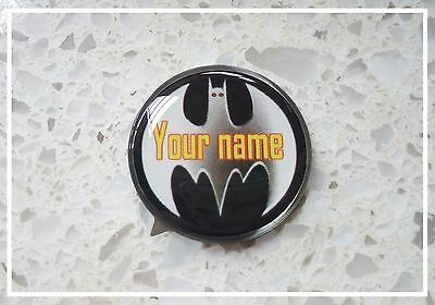 anneys ~ GOLF  BALL  MARKER - * your OWN PERSONALISED MARKER!! *  batman!