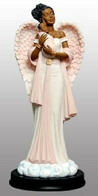 Graceful Angels: Angel with Baby in Pink Figurine