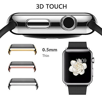For Apple Watch 42mm Protective Case Cover Bumper Screen Protector Black 42mm BD