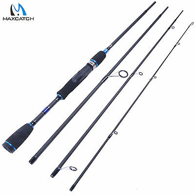 "Maxcatch 7'9""/2.4m Spinning Rod Carbon Fiber Portable Travel Fishing Rod"