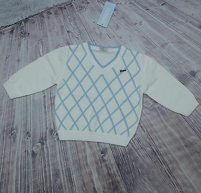 New Gymboree Boy Sweater Argyle Airplane Easter Sweater 18-24 Months