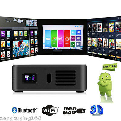 Bolsillo Mini DLP Proyector 3200 Lumen Airplay Miracast IOS Android 1+8G BT WIFI