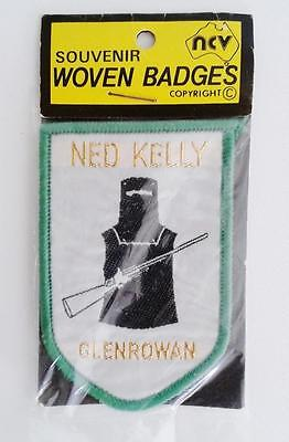 NED KELLY souvenir woven sew on patch badge GLENROWAN Australia