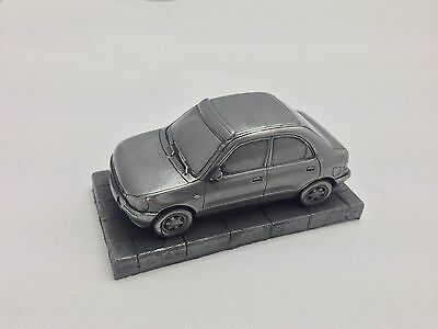 Mazda 121 Pewter Effect 1.43 Scale Model Car Handmade In Sheffield