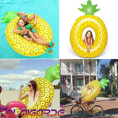 NEW Giant Fun Pineapple Inflatable Pool Float Swimming Raft Summer Water Lounger