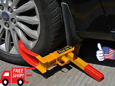 Wheel Lock Clamp Boot Tire Claw Trailer Auto Car Truck Anti-Theft Towing New VIP