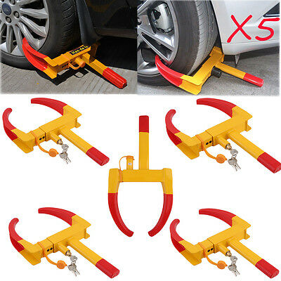 5X Wheel Lock Clamp Boot Tire Claw Trailer Auto Car Truck Anti-Theft Towing New