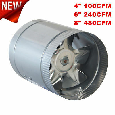 """4"""" 6"""" 8"""" Inch Booster Fan Inline Blower Exhaust Ducting Cooling Vent HPS USA VIP"""