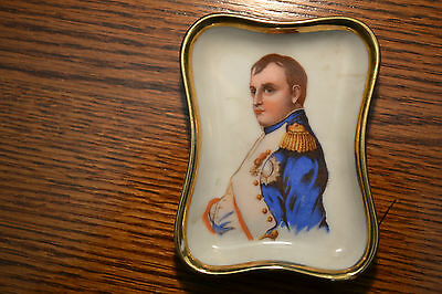 Antique French  Porcelain  Portrait Plaque Of Napoleon Plate